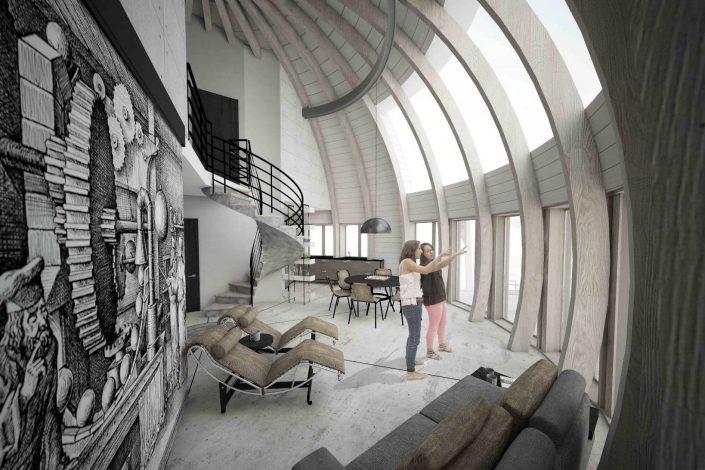 Dome4you.com - kupolinių namų interjeras